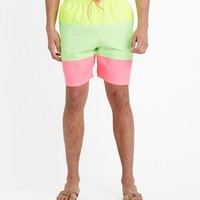 Pieced Neon Bungalow Shorts