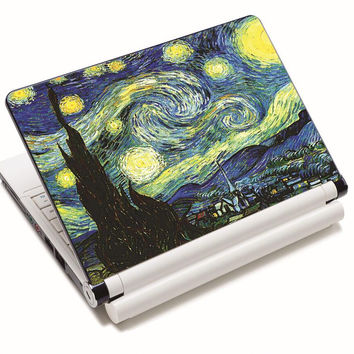 """Van Gogh Village Art Anti-Slip Laptop Sticker Skin Decal Cover Protector For 11.6"""" -15.4"""" Sony Toshiba HP Dell Acer Thinkpad"""