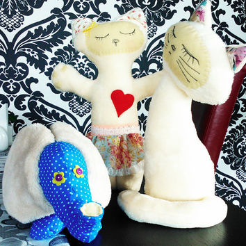 Christmas Home Wall Decor Cat Elephant Easy Sewing Patterns PDF Instant Digital Download Tutorial Softie