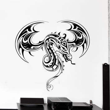 Vinyl Wall Decal Beautiful Dragon Fantasy Art Teen Room Decoration Stickers Mural Unique Gift (ig4978)