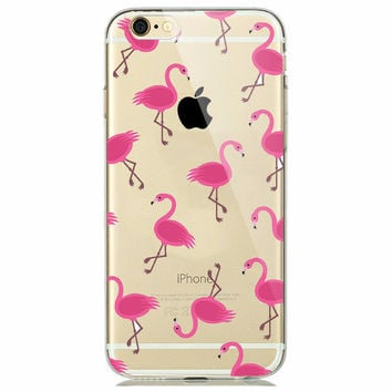 Alice's Flamingos Soft Case for iPhone 5 5s 6 6s