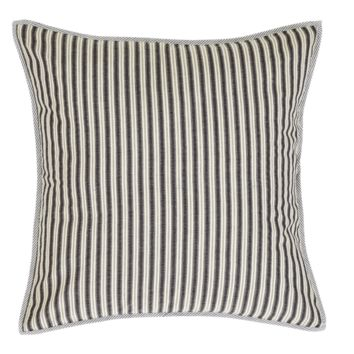 "Ashmont Fabric Euro Sham Cover White & Blue Stripes  26"" x26""  Set of 2"