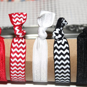 Christmas elastic hair ties no crease chevron hair ties solid hair ties hair twists girls hair tie nautical hair ties FOE hair ties