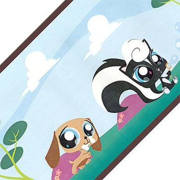 Littlest Pet Shop Blue Park Pre-pasted Wall Border