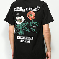 40s & Shorties Agriculture Black T-Shirt | Zumiez