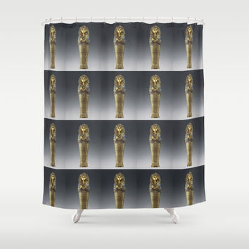 tutpattern Shower Curtain by Kathead Tarot/David Rivera