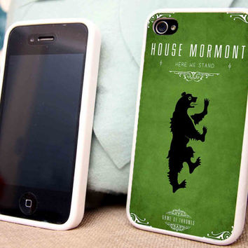 House Mormont Game Of Thrones for iPhone 5 5C 5S iPhone 4/4S Samsung Galaxy S3 S4 case