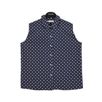 Sleeveless Mini Polka Dot Blouse