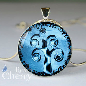 tree necklace pendants,tree pendant charms,resin pendants,tree photo pendants- D0771CP
