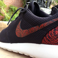Roshe Floral Roses Made to Order Mens & Womens Custom Hand Painted Nike Rosherun Shoes
