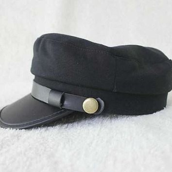 Octagon Yacht Skipper Captain Sailor Boat Police Sheriff Hat Cap Party Costume