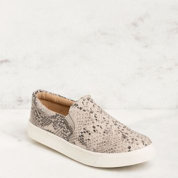 Glen Snakeskin Slip-On Sneakers