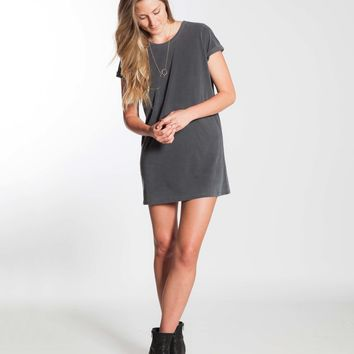Sueded T-Shirt Dress - Dark Grey : Marine Layer