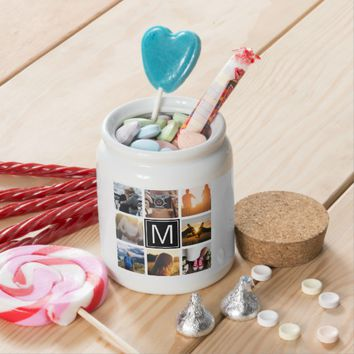 Monogram 8 Frame NGL Candy Jar
