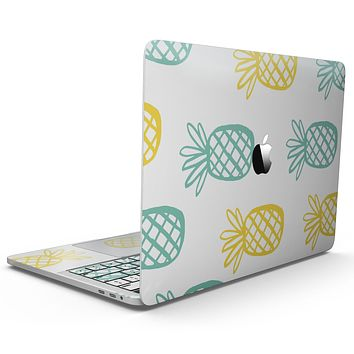 Gold and Mint Pineapple - MacBook Pro with Touch Bar Skin Kit
