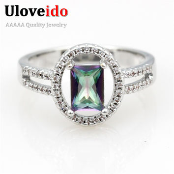 Purple 6 Engagement Womens Jewelry Rings Cool Wedding Accessories Classic Cute Ring Women Creative Christmas Gifts for Friends Y3377