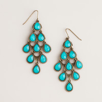 Turquoise Crystal Chandelier Earrings - World Market