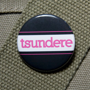 Tsundere button flair - unisex