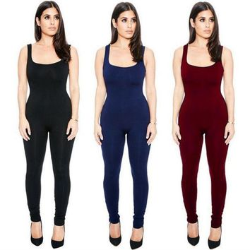 PEAPIH3 Summer sexy tight one-piece pants high elastic suspenders piece pants