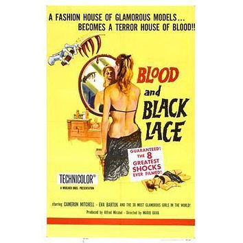 Blood And Black Lace Movie poster Metal Sign Wall Art 8in x 12in
