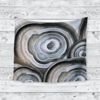 Geode Circle Flock Home Decor Trendy Boho Wall Tapestry