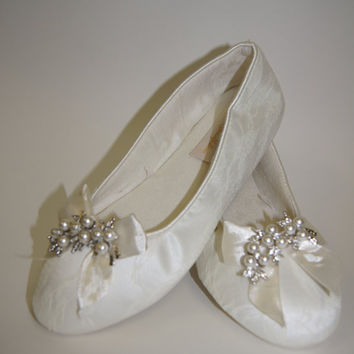Lace Wedding Shoes - Flats