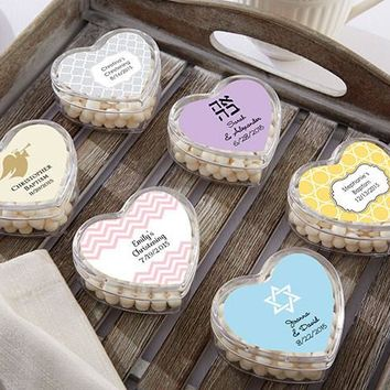 Heart Favor Container - Religious (Set Of 12) (Available Personalized)