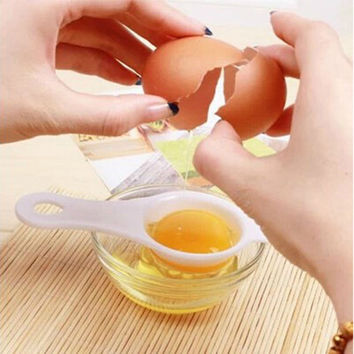 (1pcs) Eco Friendly Egg Yolk White Separator, Egg Divider, Egg Tools, Food Grade PP Material Accessories Gadgets