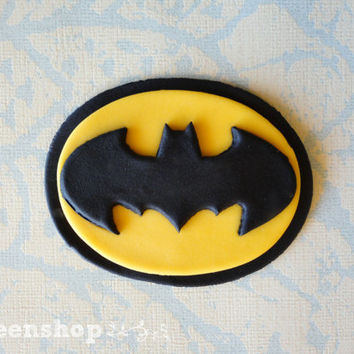Batman cupcake toppers