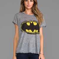 Lauren Moshi Edda Color Batman Vintage Tee in Black