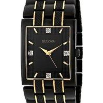 Men's 98D004 Diamond Dial Watch
