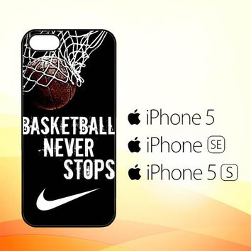 Nike Basketball Never Stops L1970  iPhone 5|5S|SE Case
