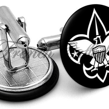 Boy Scouts Logo Black Cufflinks