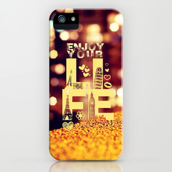 Enjoy your life - for iphone iPhone & iPod Case by Simone Morana Cyla