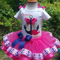 Notical tutu, notical birthday tutu, whale tutu, first birthday tutu