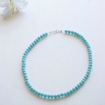 Chic Necklace - Simple necklace - Turquoise Necklace - Blue Jewelry - Dainty Necklace - Bridesmaid Necklace - Light Blue Necklace
