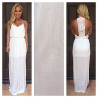 Vintage Finesse Maxi Dress - IVORY