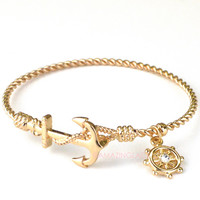 Sea Siren Dainty Anchor Bracelet