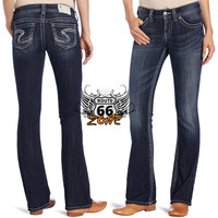 Silver Jeans Suki  Wid Rise Boot Cut Ladies Women's Jeans