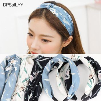 DPSaiLYY 3 PC Hot Sale Know Headband Hairband Sport for Adults Cotton Floral Fabric Knotted Headwear Hair Accessories for Women