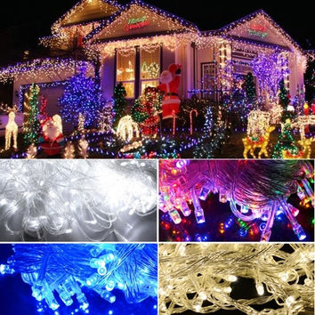 New 50M 250 LED Outdoor Light Christmas String Fairy Wedding Party String Lamp Light