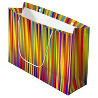Vibrant Lines 17 Large Gift Bag