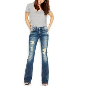 NWT 7 For All Mankind Bootcut Jeans, Distressed Wash, Size 29