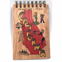 Vintage Greetings California Notepad