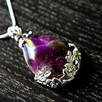 Unique Amethyst Necklace - Healing Crystals, Crystal Necklace, Amethyst Crystal
