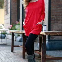 Casual Day Tunic - Red