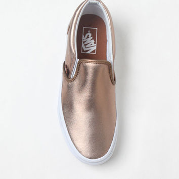 Vans Women's Rose Gold Slip-On Sneakers at PacSun.com