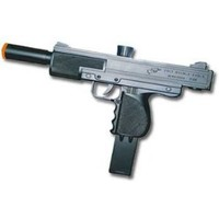 Amazon.com: Airsoft Pistol Uzi Style Sping Loaded Cock and Shoot Single Shot Airsoft Gun: Sports & Outdoors