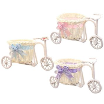 Decorative Flower Bicycle Basket Container Wedding Decoration Supplies Home Bedroom Decor Drop Shipping