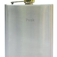 Stainless steel flask. Engraved name: Punk (first name/surname/nickname)